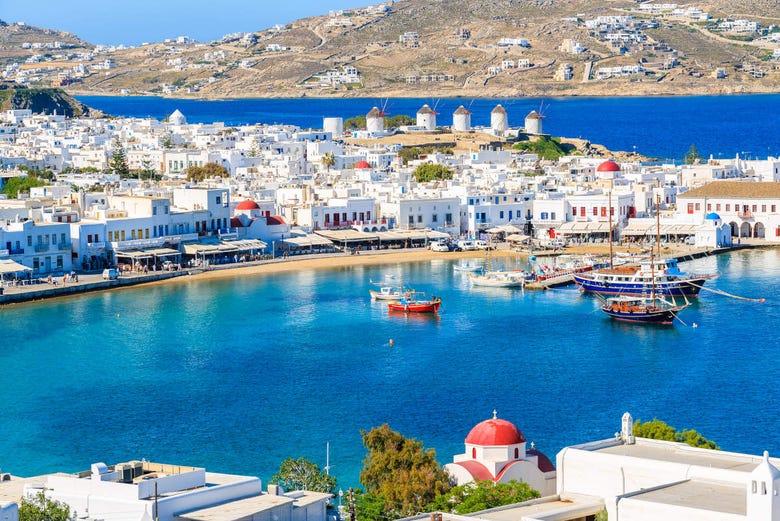 ,Excursión a Mykonos,Excursión a Santorini,4 días