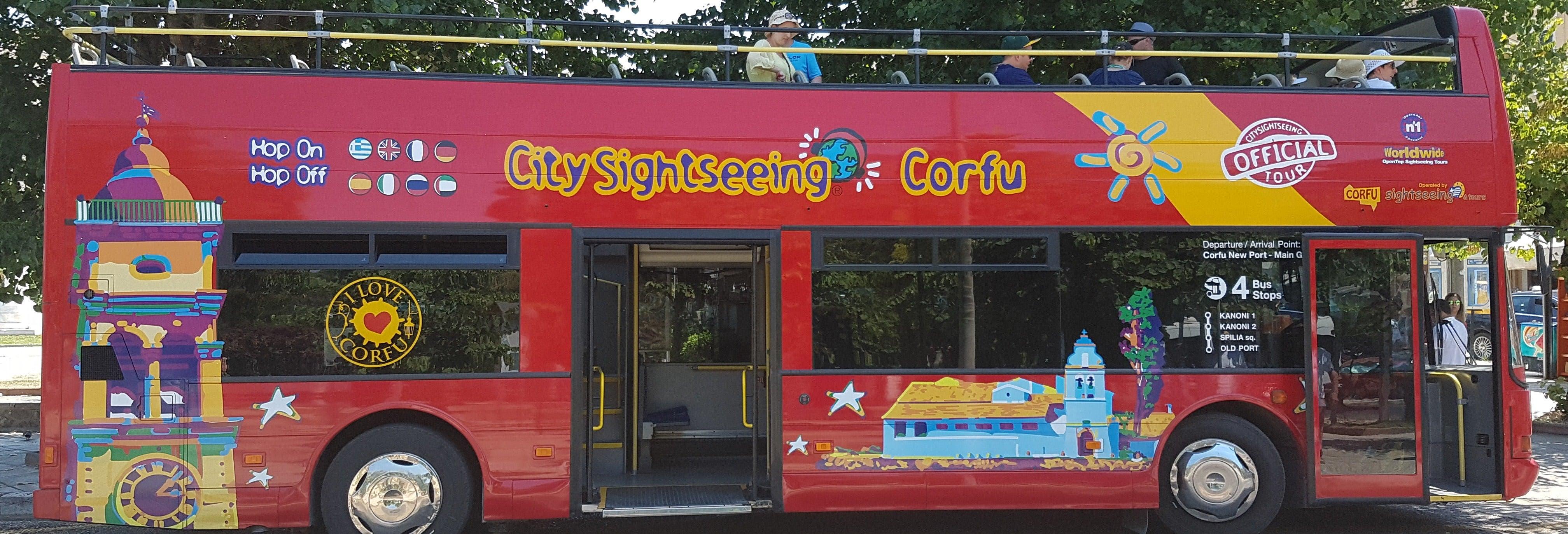 Autobus turistico di Corfù