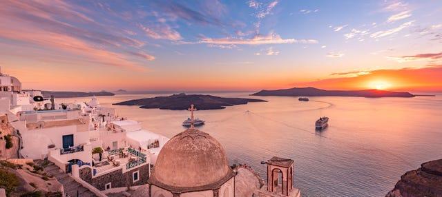 Excursión en barco por Santorini al atardecer