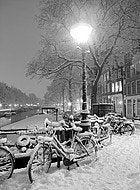 Amsterdam nevada en invierno