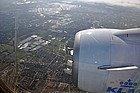 Llegando en avión a Ámsterdam
