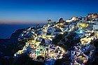 Santorini al anochecer