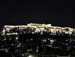 Acropolis al anochecer
