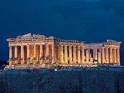 Acrópolis iluminada