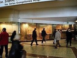 Metro de Atenas, museo en estación Evangelismos