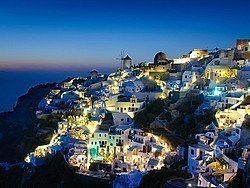 Santorini al caer la noche