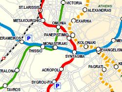 Plano de metro de Atenas