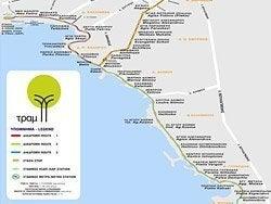 Plano de tranvía de Atenas