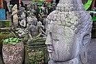 Compras en Bali, tienda de estatuas