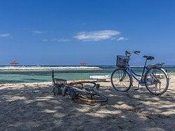Recorriendo Sanur en bicicleta