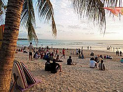Playa de Kuta al atardecer