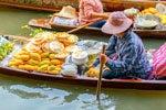 Excursión al mercado sobre la vía y al mercado flotante