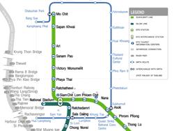 Plano del metro y Skytrain