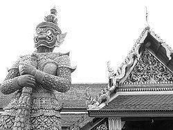 Guardián velando por la seguridad de los templos