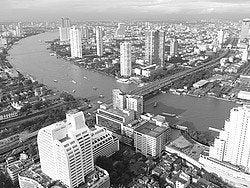 Historia Bangkok, Río Chao Phraya