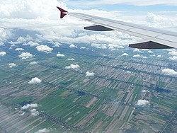 Llegando a Bangkok en avión