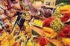 Mercado de la Boquería, puesto de frutas y zumos