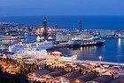 Porto delle navi da crociera a Barcellona