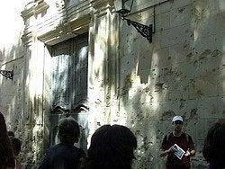 Restos de los los bombardeos durante la Guerra Civil