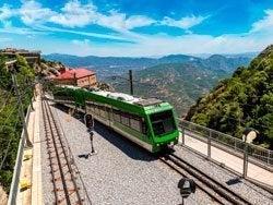 Tren cremallera de Montserrat