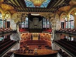 Palacio de la Música Catalana, interior