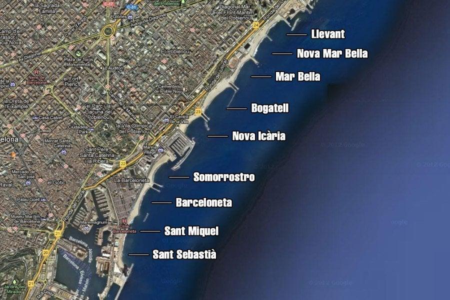 Très Plages de Barcelone - Les plus belles criques et plages de Barcelone ON77