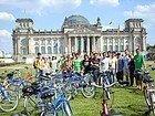 Berlin en Bicicleta, junto al parlamento
