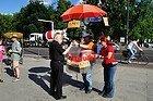 Vendedor ambulante de salsichas