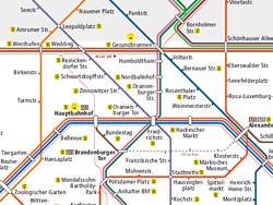 Plano de transportes de Berlín