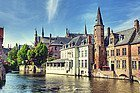 Bruges, one of its canals
