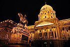 Buda Castle lit up at night