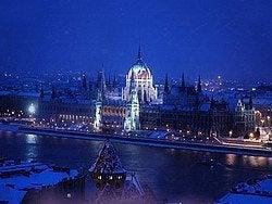 Budapest con nieve