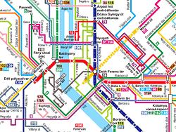 Transporte Budapest: Mapa