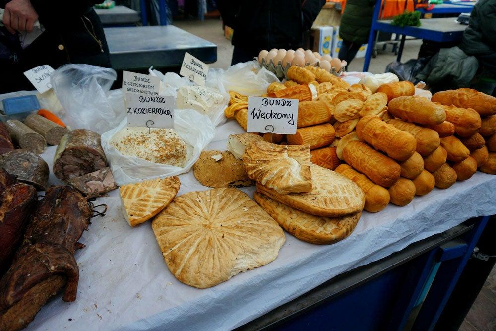 Venta de quesos ahumados polacos