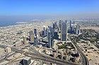 Burj Khalifa, vistas de Sheikh Zayed Road