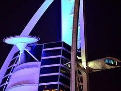 Burj Al Arab iluminado, detalle