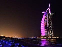 Burj Al Arab iluminado