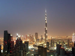Dubai al anochecer