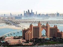 Panorámica de Dubái desde el aire