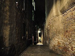 Ruelle (close) en sortant de la Royal Mile