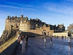 Castillo de Edimburgo, entrada