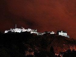Castello di Edimburgo al tramonto