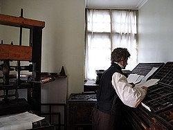 Writters Museum, sala de imprenta