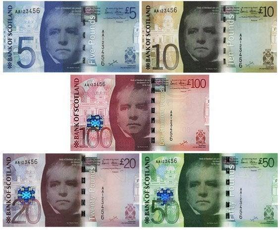 Billetes de Escocia