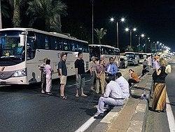 Egipto es seguro: Convoy de autobuses