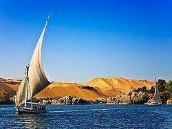 Falucas por el Nilo