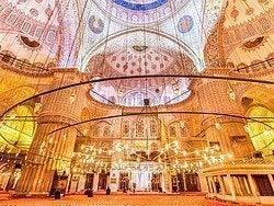 Mezquita Azul, interior