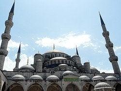Tiempo en Estambul en junio en la Mezquita Azul
