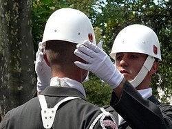 Soldados en el Palacio Dolmabahce