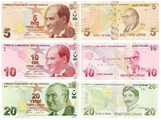 Billetes de Lira Turca